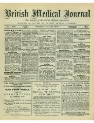 English: Saturday, June 29, 1895 edition of the British Medical Journal Source : www.ncbi.nlm.nih.gov