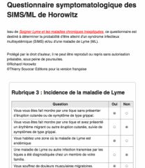 Questionnaire de Horowitz SIMS/ML