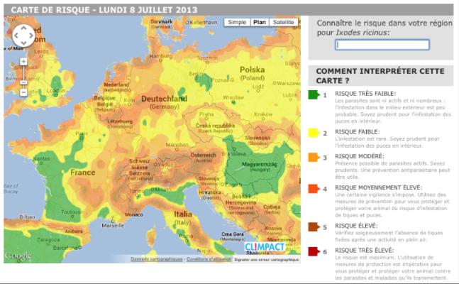 carte europe tiques