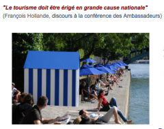 Le Tourisme, Grande cause nationale (Président F. Hollande)