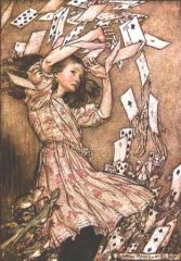 Sous les cartes, Arthur Rackham 1907, Alice's Adventures in Wonderland, L. Caroll, 1865